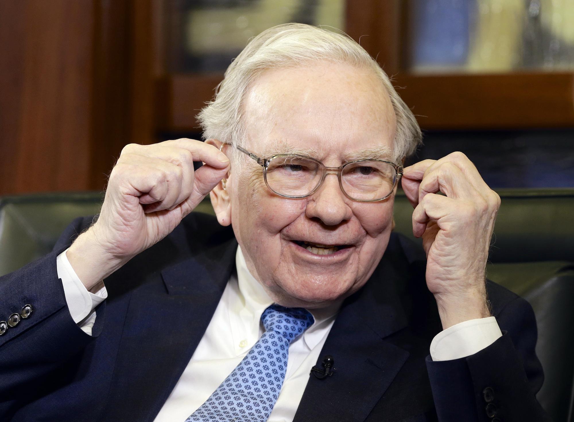 Guldgossen Warren Buffet. Foto: AP TT Nyhetsbyrån