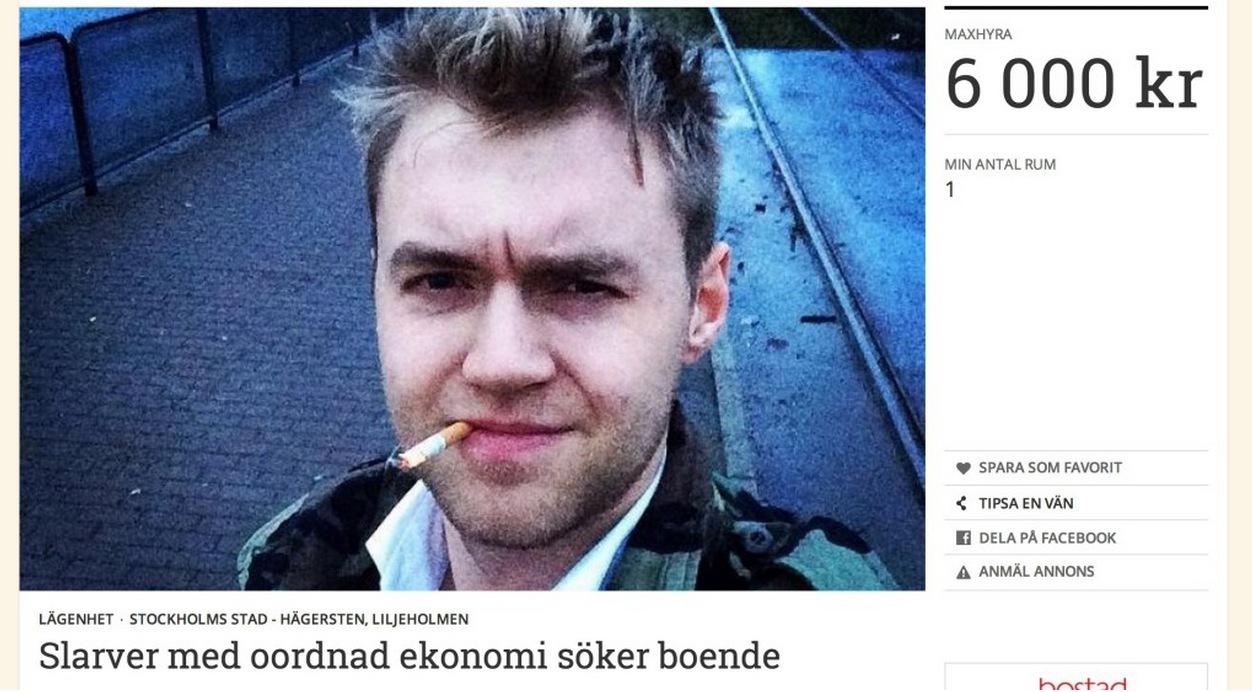 Fredrik söker bostad med årets ärligaste annons: