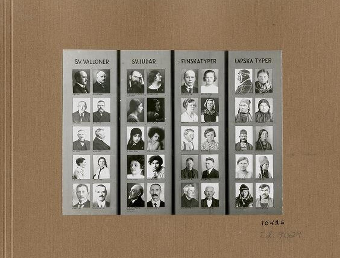 Ur Rasbiologiska institutets utställning från 1930-talet. Foto: Uppsala universitetsbibliotek.